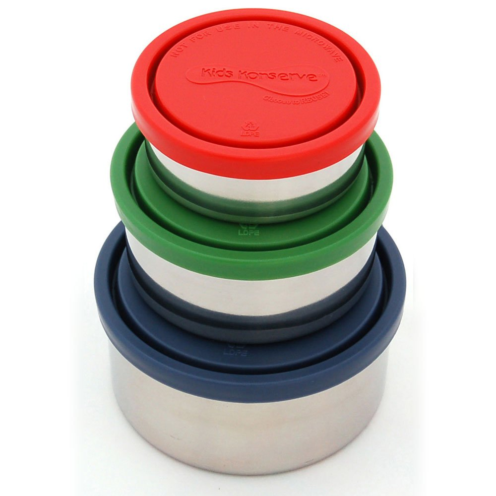 Kids Konserve Stainless Round Containers