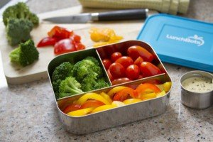 lunchbots trio blue veggies